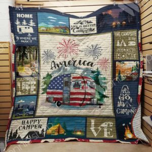 Camping Quilt Blanket