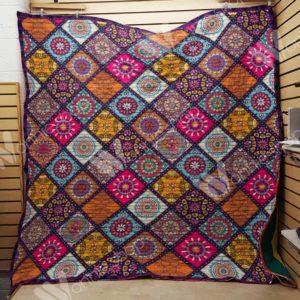 Hippie Mandala Quilt Blanket