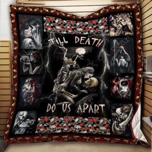 Till Death Do Us Part – Skull Quilt Blanket