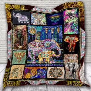 Bohemian Elephant Quilt Blanket
