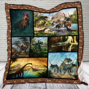 Dinosaur World Quilt Blanket Great Customized Gifts For Birthday Christmas Thanksgiving Perfect Gifts For Dinosaur Lover