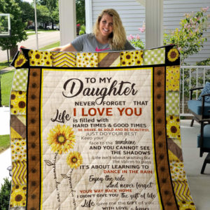 Sunflower Daughter Quilt Blanket