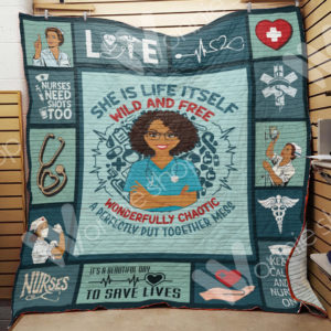 Nurse Black Girl A Perfectly Put Together Mess Quilt Blanket Great Customized Gifts For Birthday Christmas Thanksgiving Perfect Gifts For Nurse And Black Daughter Girlfriend Wife