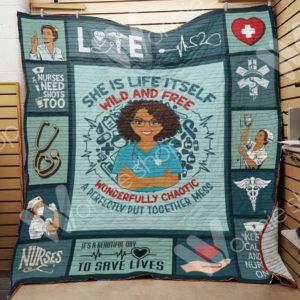 Nurse Black Women Quilt Blanket