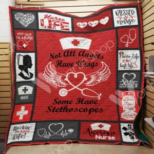 Nurse Stethoscopes Rockin The Nurse Life Quilt Blanket Great Customized Gifts For Birthday Christmas Thanksgiving Perfect Gifts For Nurse