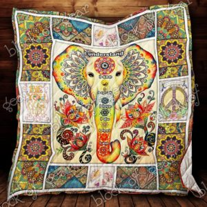 Hippie I Understand I See I Love Quilt Blanket Great Customized Gifts For Birthday Christmas Thanksgiving Perfect Gifts For Hippie