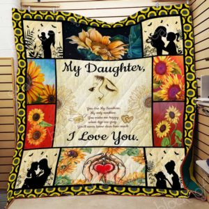 Daughter, You Are My Sunshine Quilt Blanket
