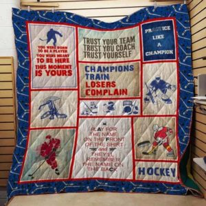 Ice Hockey Trust Your Team Trust Your Coach Quilt Blanket Great Customized Gifts For Birthday Christmas Thanksgiving Perfect Gifts For Ice Hockey Lover