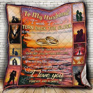 My Husband I Love You Quilt Blanket