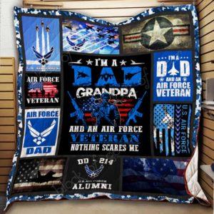 Air Force Veteran Quilt Blanket