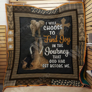 Elephant I Will Choose To Find Joy Quilt Blanket Great Customized Gifts For Birthday Christmas Thanksgiving Perfect Gifts For Elephant Lover