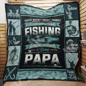 Fishing Papa Quilt Blanket