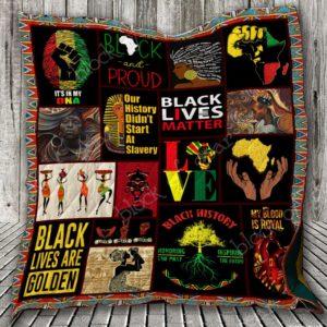 Black Women Black Lives Are Golden Quilt Blanket Great Customized Blanket Gifts For Birthday Christmas Thanksgiving