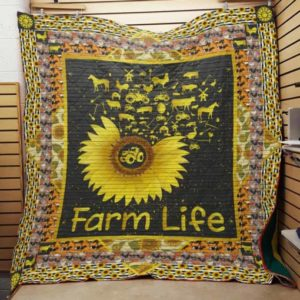 Farm Sunflower Quilt Blanket