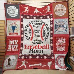 Baseball Mom Quilt Blanket