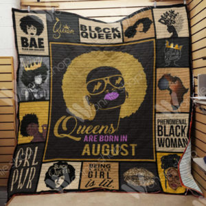 Black Women Queens Are Born In August Quilt Blanket Great Customized Gifts For Birthday Christmas Thanksgiving Perfect Gifts For Black Daughte Girlfriend Wife