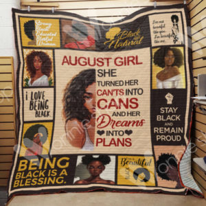 August Black Women Quilt Blanket