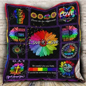 Lgbt Pride Born This Way Quilt Blanket Great Customized Blanket Gifts For Birthday Christmas Thanksgiving