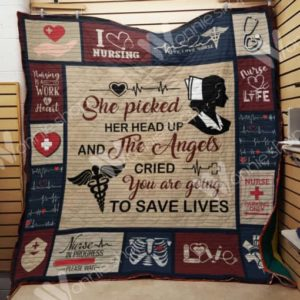 Nurse She Picked Her Head Up Quilt Blanket Great Customized Gifts For Birthday Christmas Thanksgiving Perfect Gift For Nurse
