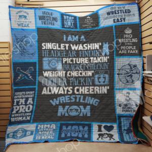 Wrestling Quilt Blanket