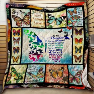 To My Daughter, Butterfly Quilt Blanket
