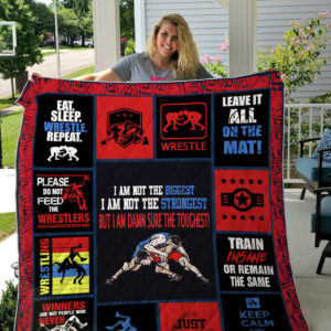 Wrestling I Am Not The Biggest Quilt Blanket Great Customized Gifts For Birthday Christmas Thanksgiving Perfect Gifts For Wrestling Lover