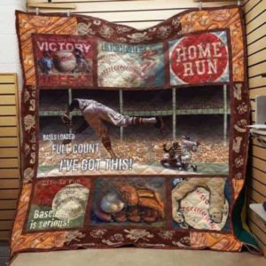 Baseball Bases Loaded Full Count Quilt Blanket Great Customized Gifts For Birthday Christmas Thanksgiving Perfect Gifts For Baseball Lover
