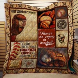 Baseball First Sound Of Spring Quilt Blanket Great Customized Gifts For Birthday Christmas Thanksgiving Perfect Gifts For Baseball Lover