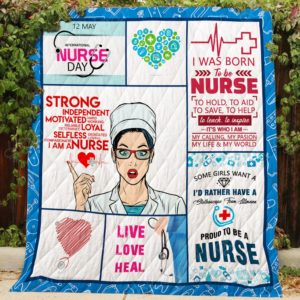 Proud To Be A Nurse My Calling My Passion My Life And My World Quilt Blanket Great Customized Gifts For Birthday Christmas Thanksgiving Perfect Gifts For Nurse