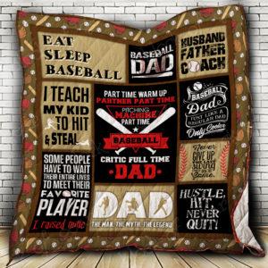 Baseball Father Quilt Blanket