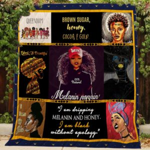 Black Queen I Am Black Without Apology Quilt Blanket Great Customized Gifts For Birthday Christmas Thanksgiving Perfect Gifts For Black Daughte Girlfriend Wife