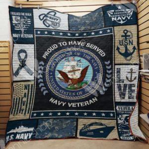 Navy Veteran Quilt Blanket