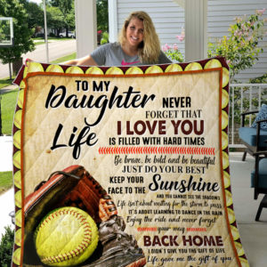Personalized Softball To My Daughter From Mom Just Do Your Best Quilt Blanket Great Customized Gifts For Birthday Christmas Thanksgiving Perfect Gifts For Softball Lover