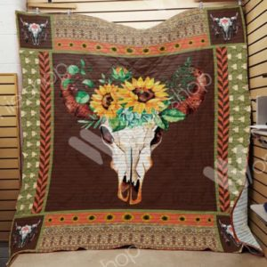 Hunting Sunflower Quilt Blanket