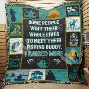 Fishing Some People Wait Their Whole Lives Quilt Blanket Great Customized Gifts For Birthday Christmas Thanksgiving Perfect Gifts For Fishing Lover