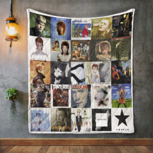 David Bowie Style 3 Album Covers Quilt Blanket