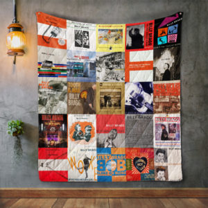 Billy Bragg Album Covers Quilt Blanket