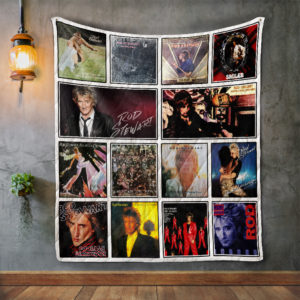 Rod Stewart Album Covers Quilt Blanket