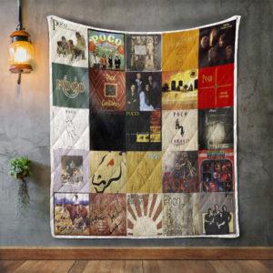 Poco Album Covers Quilt Blanket