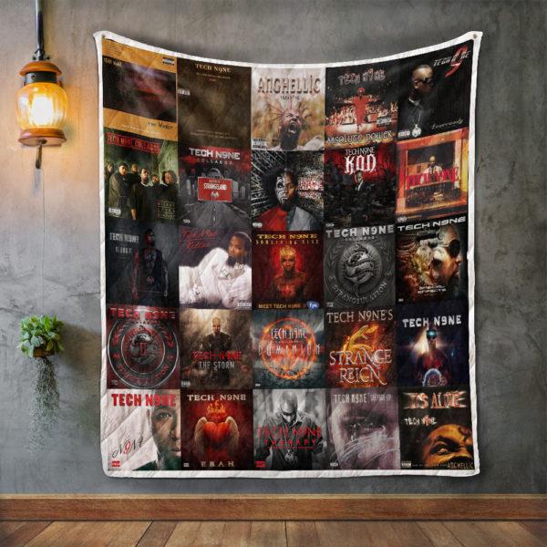 Tech N9ne Album Covers Quilt Blanket