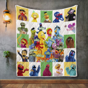 Sesame Street Album Covers Quilt Blanket