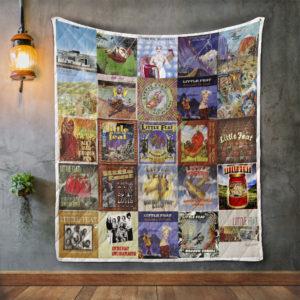 Little Feat Album Covers Quilt Blanket