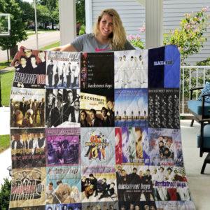 Backstreet Boys Album Covers Quilt Blanket