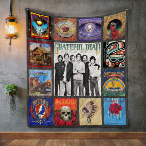 Grateful Dead Band Album Covers Quilt Blanket