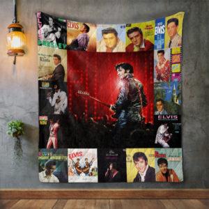 Elvis Presley 4 Album Covers Quilt Blanket