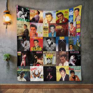 Elvis Presley Album Covers Quilt Blanket