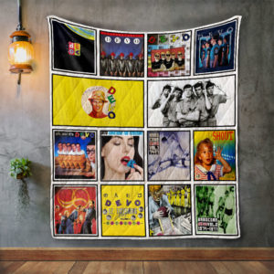Devo Album Covers Quilt Blanket