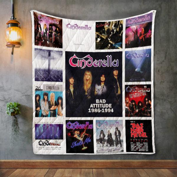 Cinderella Album Covers Quilt Blanket