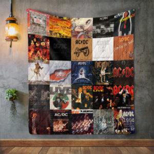 Ac/Dc Album Covers Quilt Blanket