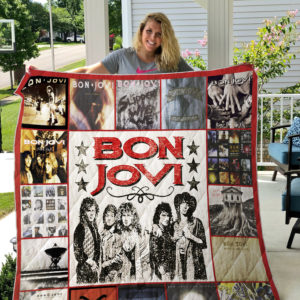Bon Jovi Style 2 Quilt Blanket